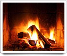 image of fireplace (wood-burning)