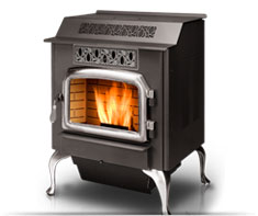 image of pellet stove