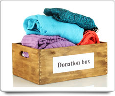 image of charity donations