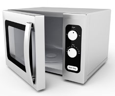 image of microwave oven